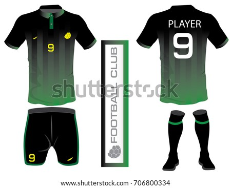 vector illustration football tshirt template soccer ベクター画像素材