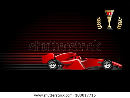 vector illustration of  formula 1. (Simple gradients only - no gradient mesh) - stock vector