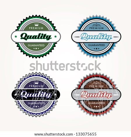 Vector illustration of four labels.