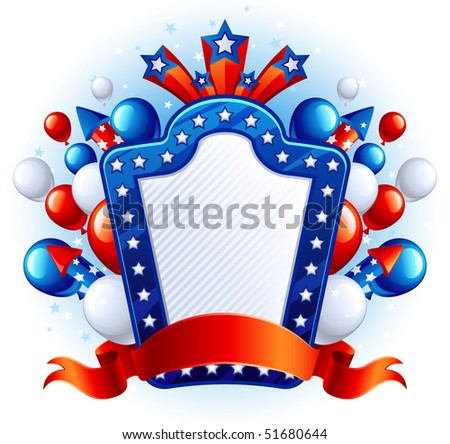 Vector illustration  of fourth of July celebration abstract background - stock vector