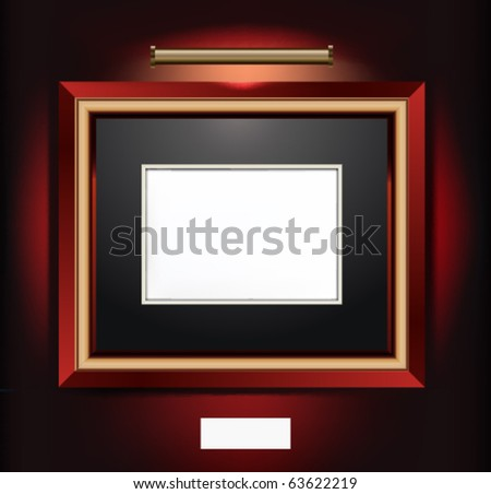 Vector Illustration of frame for artwork.