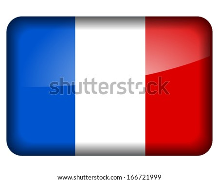 Vector illustration of french flag icon on white background