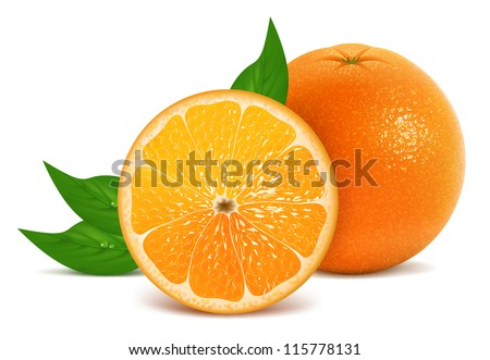 Vector illustration of fresh orange