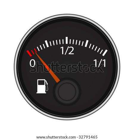Vector illustration of fuel indicator