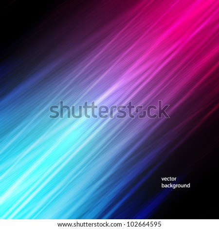 Vector illustration of futuristic abstract glowing background with neon light stripes - stock vector