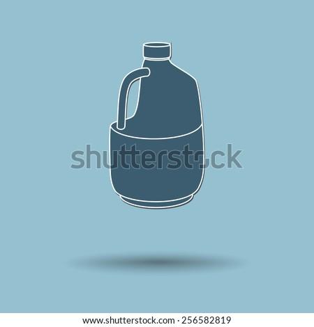 Vector illustration of  Gallon bottles color background. - stock vector