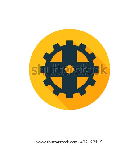 Vector illustration of gear icon