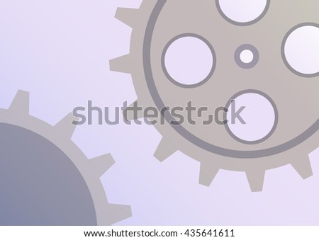 Vector illustration of gear wheel abstract background. Blue transparent banner with clockwork. EPS10. - stock vector