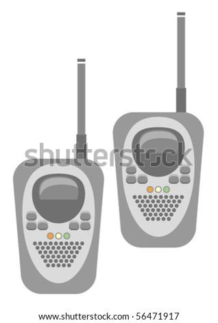 Vector illustration of generic set of walkie talkies - stock vector
