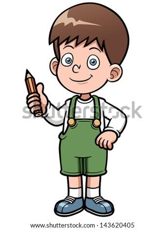 Vector illustration of Genius Boy vector - stock vector