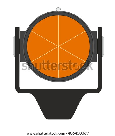 Vector illustration of geodetic prism - stock vector