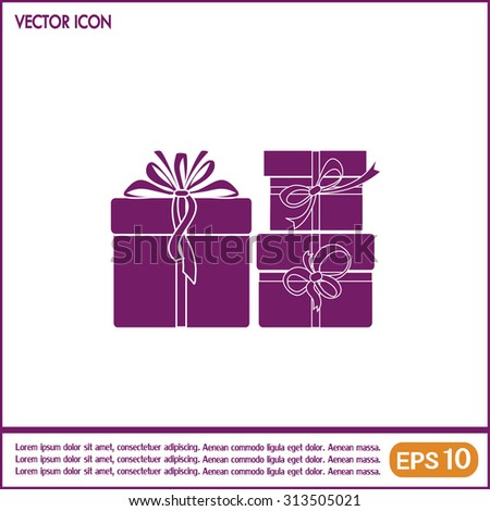 Vector illustration of gift box - stock vector