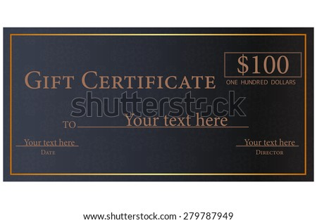 Vector illustration of gift certificate  - stock vector