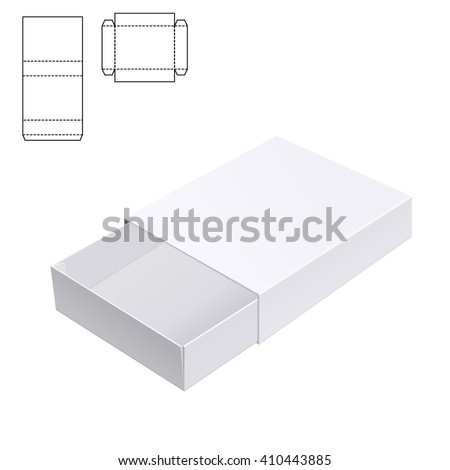 Vector Illustration of Gift craft Box for Design, Website, Background, Banner. Folding package Template. Fold pack with die line isolated for your brand on it - stock vector
