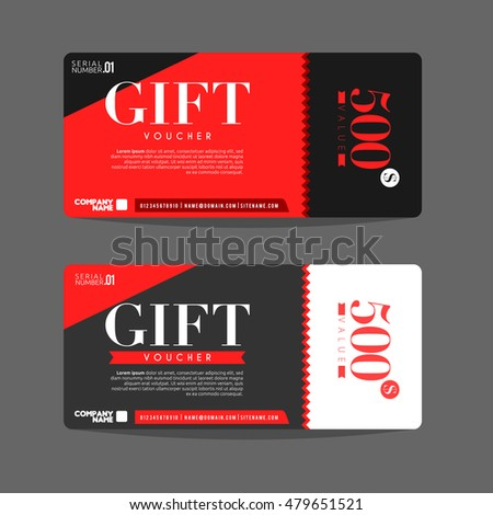 Vector Illustration Gift Voucher Template Can Stock Vector 479651521 ...