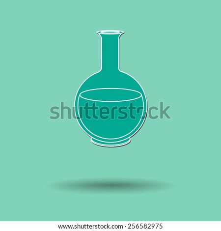 Vector illustration of  Glass experiment  color background.