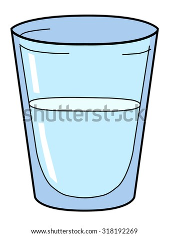 how to draw a cartoon glass of water