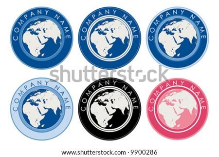 vector illustration of globe logos - stock vector