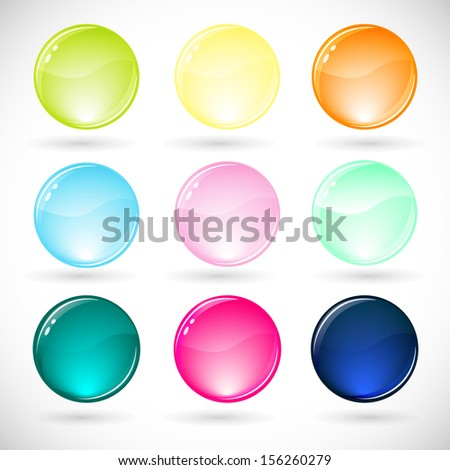 Vector illustration of  glossy  sphere icon. - stock vector
