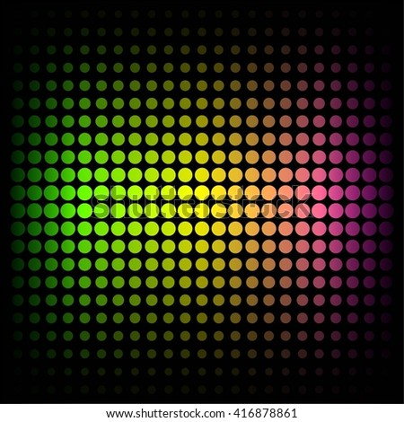 Vector illustration of Glowing mosaic on a black background.