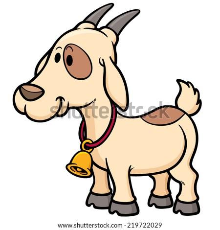 Vector illustration of Goat Cartoon - stock vector