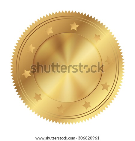Vector illustration of gold circle - stock vector