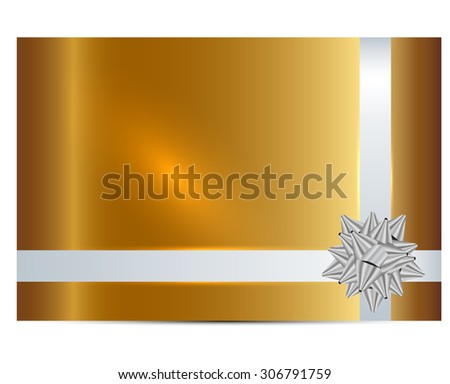 Vector illustration of gold gift card - stock vector