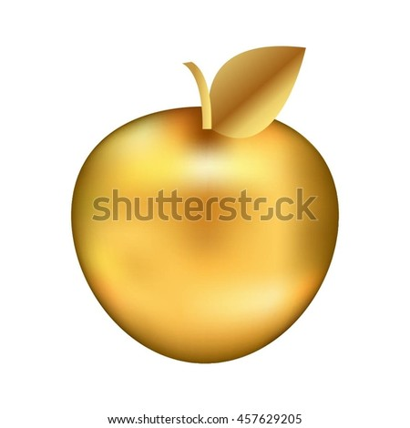Vector illustration of Golden apple