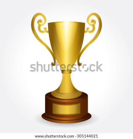 vector illustration of golden cup