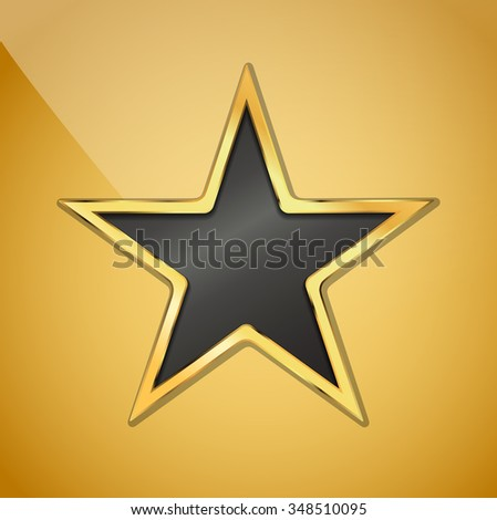 vector illustration of golden star background