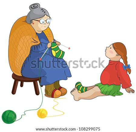 Grandmother Knitting Stock Images, Royalty-Free Images & Vectors ...