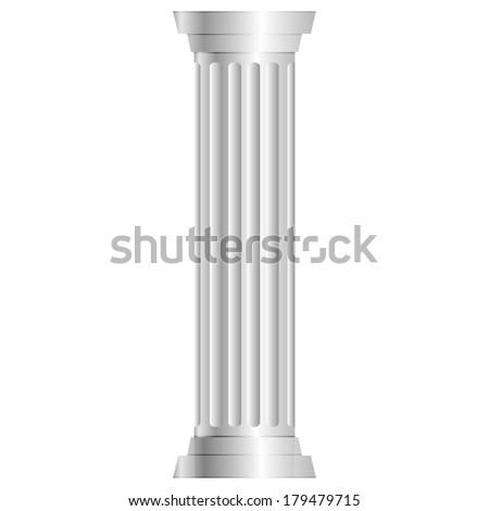 Vector illustration of gray column - stock vector