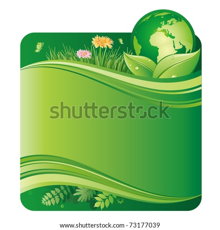 vector illustration of green environment - stock vector