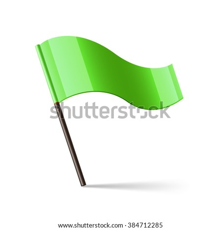 Vector illustration of green flag