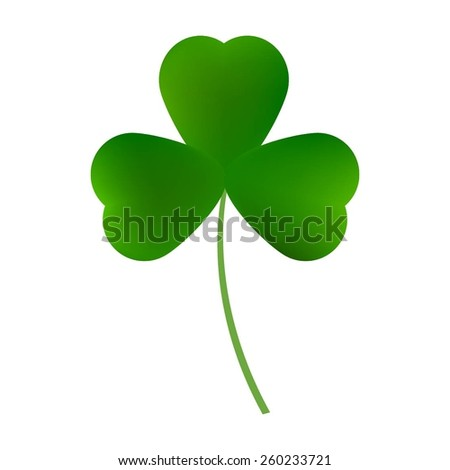 Vector illustration of green leaf clover. - stock vector