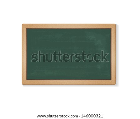 Vector illustration of green school blackboard. Contains Adobe Illustrator's Clipping Mask and Blend.