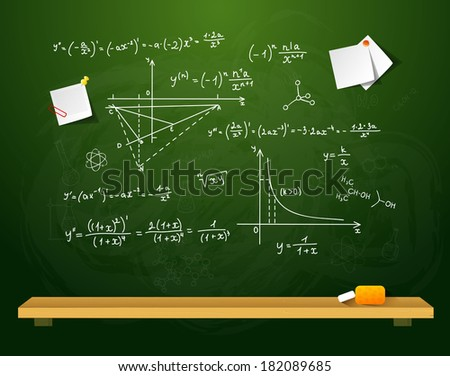 Vector illustration of Green school board eps 10 - stock vector