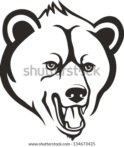 Bear head Stock Photos, Images, & Pictures | Shutterstock Grizzly Bear Face Logo