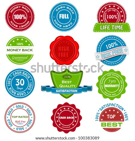 vector illustration of group of selling tag for promotion - stock vector