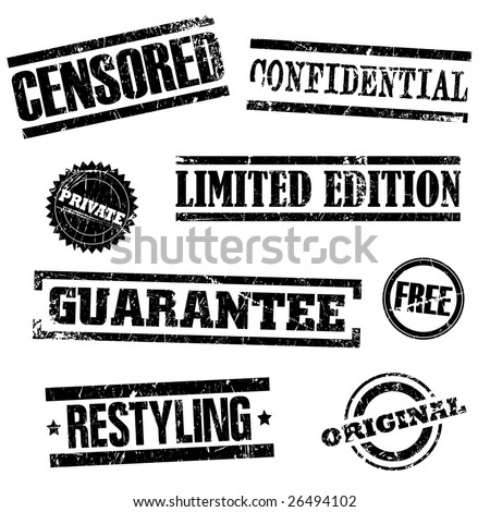 Vector illustration of grunge stamps with effects - stock vector