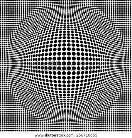 Vector Illustration of Halftone Grange for Design, Website, Background, Banner. PopArt Dots Element Template for Retro Style Wallpaper. Black and White