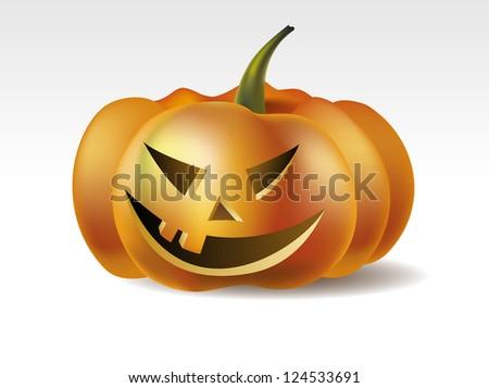 Vector Illustration of Halloween Pumpkin - stock vector