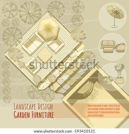Garden Furniture Top View patio furniture stock images, royalty-free images & vectors
