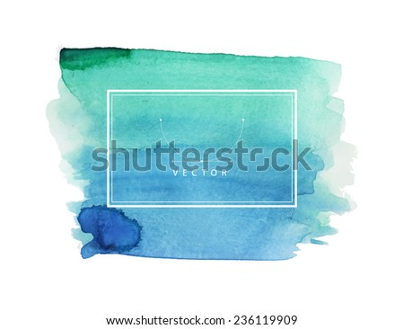 Vector illustration of Hand painted watercolor texture - stock vector
