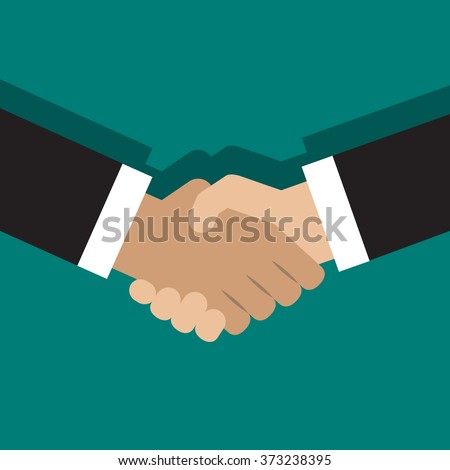 Vector illustration of handshake. Flat style design