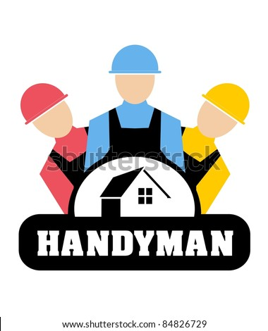 Vector illustration of Handyman concept - stock vector