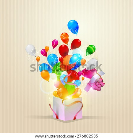 Vector illustration of happy birthday card