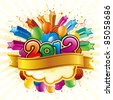 vector illustration of happy new year 2012 - stock photo