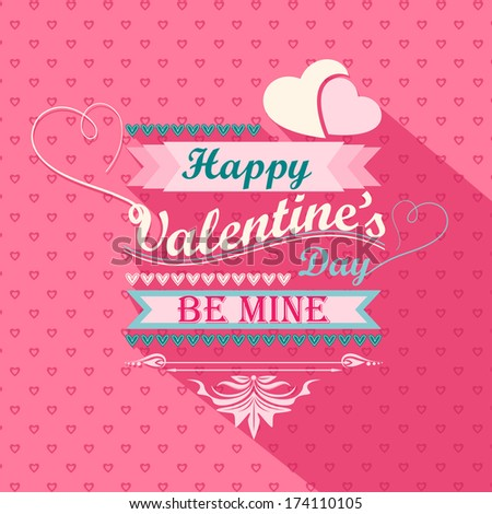 vector illustration of Happy Valentine's Day design - stock vector