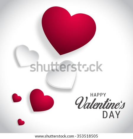 Vector Illustration of Happy Valentine's Day greeting card. - stock vector